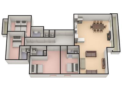 Appartement de luxe de 4 chambres dans une résidence charmante au coeur de la station de Val Thorens (une rareté dans la station élue La Meilleure du Monde en 2013, 2014 et 2016). Ne manquez pas les tours virtuels 360 disponibles seulement sur le site de Leggett
