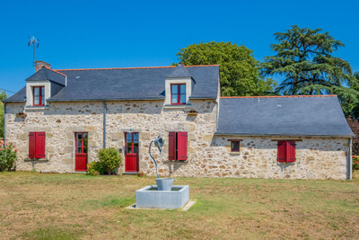 Five-bedroomed Manor-house, three luxurious gîtes + gypsy caravan providing excellent income; heated pool, mature grounds with glorious views over vines.