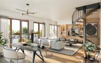 75013 | Bibliothèque F. Mitterand | Appartement duplex haut de gamme T5 | 122m² | Double exposition 2 balcons