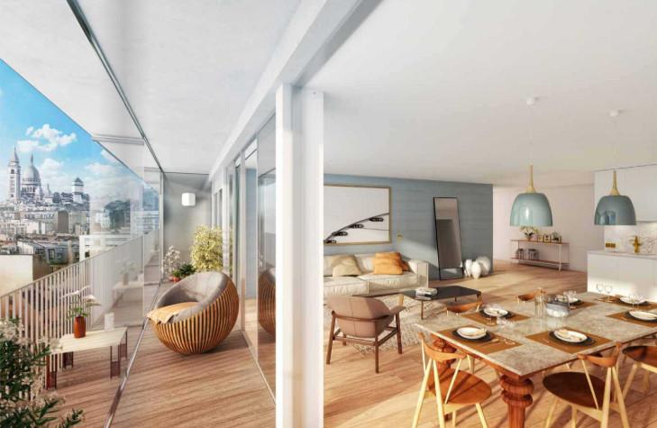 Appartement 3 pièces à vendre à Paris 18e Arrondissement (75018) -  Paris