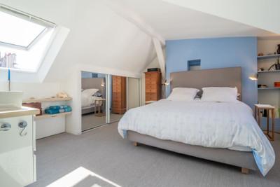 Large contemporary Duplex, in the heart of Paris, Ile Saint Louis, quiet and bright, top floor, 89m2