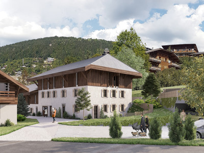 Exceptional new build 3 bedroom duplex apartment for sale in a renovated traditional farmhouse from the 18th century in the old quarter of Morzine centre