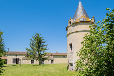 Property with mansion, outbuilding, gite, 4 hectares of land,  formerly home of Cognac winemakers dating before the French Revolution. Nedelec work to finish.