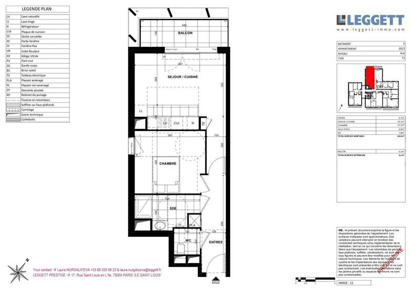 Appartement à vendre à Clichy, Hauts-de-Seine - 399 000 € - photo 3