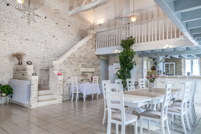 Two superb traditional stone houses for B&B use in a village with all amenities and very close to La Rochelle