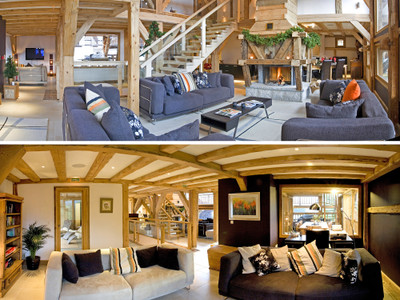 For sale, a traditional Savoyard farmhouse, fully renovated to a luxurious standard and located in a quiet south-facing hamlet with stunning views of the Samoëns valley. *Six bedrooms in the main chalet, plus two independent apartments*