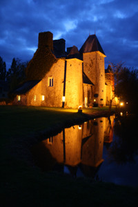 Fortified 15th-c château in the heart of Normandy. Moat, 27 acres, B&B business, 9 bedrooms & outbuildings