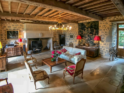Magnificent 15th century château with 450 m2 living space, 6 bedrooms/3 bathrooms, swimming pool, a farm, barns, stables for horses, bread oven, other buildings and 85 hectares of meadows and wood, 10 minutes from Aubusson with all daily amenities