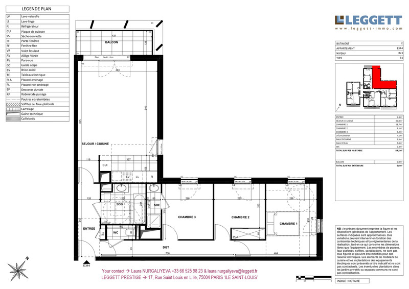 French property for sale in Clichy, Hauts de Seine - €637,000 - photo 3