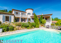 Architect's Provençal Villa + Studio, Swimming Pool, Large Garden, and a View on the Abbey of Saint-Hilaire