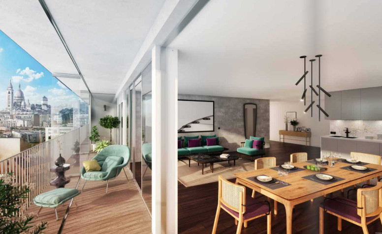 Appartement à vendre à Paris 18e Arrondissement, Paris - 1 095 000 € - photo 3