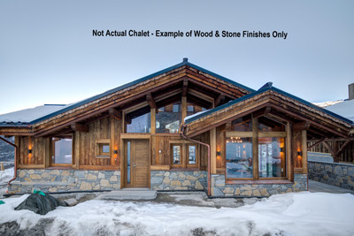 Stunning new chalet with amazing views in central Meribel. 7 ensuite bdrms + staff accom, large open plan lounge, wood fire, kitchen & dining area with viewing meditation area, relaxing mezzanine area, full wellness centre, massage room, home cinema, snug, office, gym, ski & bootroom, the list goes on!!