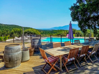 Idyllic setting for this spectacular property with panoramic views nestled in over 19 hectares of private land.  Could be gorgeous wedding venue or luxury Chambre d'Hotes