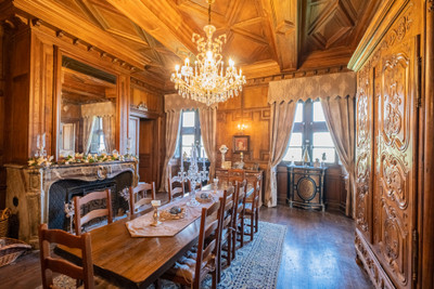 GLORIOUS 12TH-CENTURY CHÂTEAU WITH SEPARATE GUEST APARTMENT + TWO GÎTES + ORANGERY + STABLES + TWO-STOREY BARN + OUTBUILDINGS + GORGEOUS ESTATE OF 6 ACRES (2.5 HECTARES): magnificent property ideal for a wonderful family home, a superb boutique hotel, a chic Bed and Breakfast business or a wedding and events venue. In perfect condition, ready to move into and you can welcome gîte and B&B guests straight away!