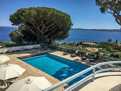 Sainte Maxime, Historical Art Deco Villa with amazing sea view overlooking the Golfe de Saint Tropez.