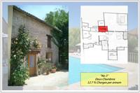 Maison de village de 2 chambres avec cour privéé, piscine et jardin partagé entre les 5 lots en co-propriété